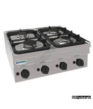Cocina industrial a gas PC70G/6 con cuatro quemadores