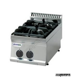 Cocina industrial a gas CLPC35G7 con dos quemadores