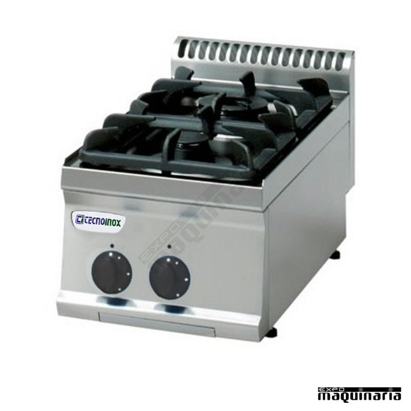 Cocina industrial a gas clpc35g7 con dos quemadores for Fogones industriales a gas