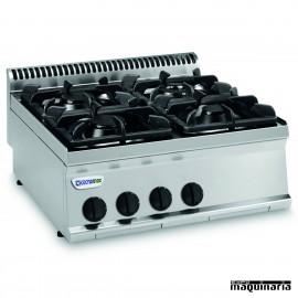Cocina industrial a gas CLPC70G7 con cuatro quemadores