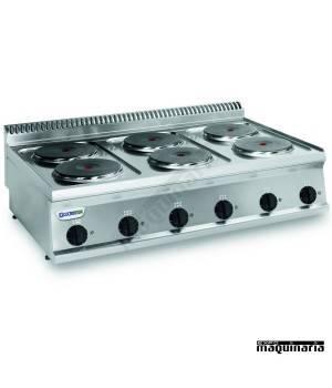 Cocina industrial electrica CLPCR105E7 con 6 quemadores