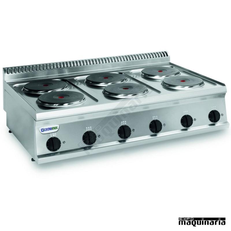 Cocina industrial electrica clpcr105e7 con 6 quemadores for Cocina 6 quemadores