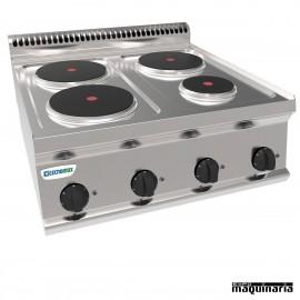 Cocina industrial electrica CLPCR70E7 con 4 quemadores