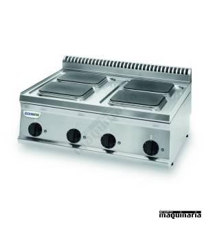 Cocina industrial electrica CLPCS70E7 con 4 cuatro placas de quemadores