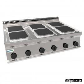 Cocina industrial electrica CLPCS105E7 con 6 placas