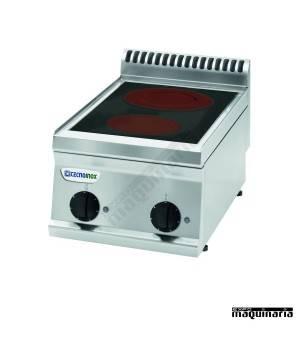 Cocina industrial electrica CLPCC35E7 con 2 zonas vitroceramicas