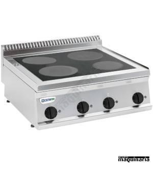 Cocina industrial electrica CLPCC70E7 con 4 placas vitroceramicas