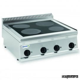 Cocina industrial electrica CLPIN70E7 con 4 placas de inducción