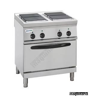 Cocina industrial electrica CLPFS70E7 con 4 quemadores y horno