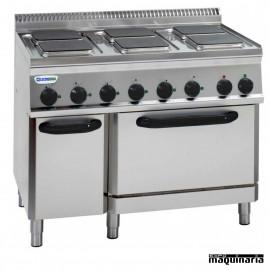 Cocina industrial electrica CLPFS105E7 con 6 quemadores y horno