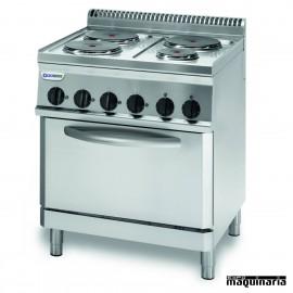 Cocina industrial electrica CLPFR70E7 con 4 quemadores y horno