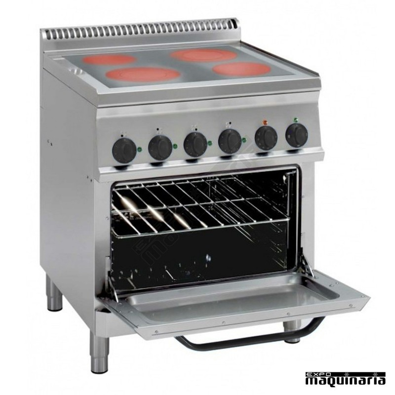 Cocina Industrial Electrica Clpfc70e7 De 4 Placas
