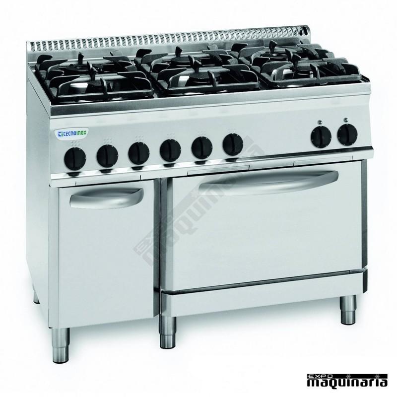 Cocina industrial a gas clpf105gg7 con 6 quemadores y for Cocina 6 quemadores