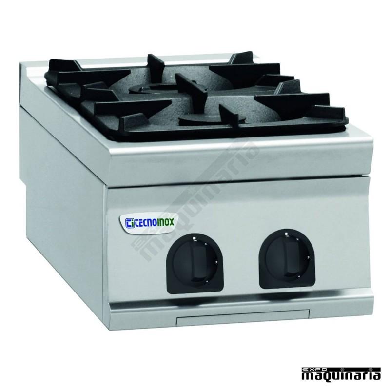 Cocina industrial a gas clpcg4g9 con dos quemadores for Fogones industriales a gas