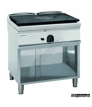 Cocina industrial a gas CLPP8FG9 con placa de hierro