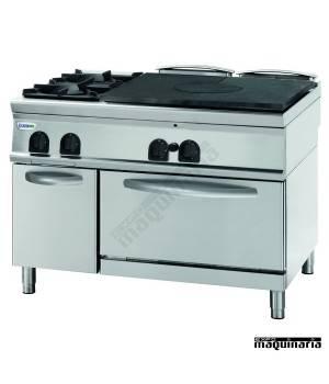 Cocina industrial a gas CLPFPG12GG9 con 2 quemadores, cocedor y horno
