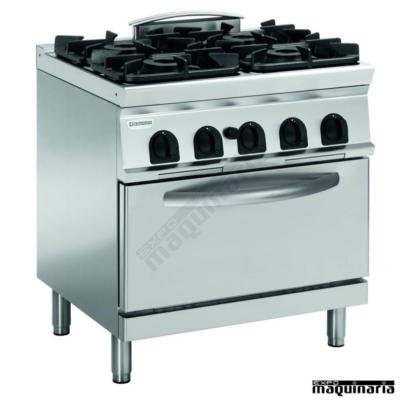 Cocina industrial a gas clpfg8sgg9 con 4 quemadores y for Wok cuatro cocinas granollers