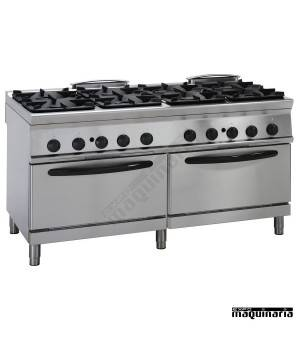 Cocina industrial a gas CLP2FG16GG9 8 quemadores y 2 hornos industriales