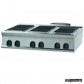 Cocina industrial electrica CLPC12E9 con 6 quemadores