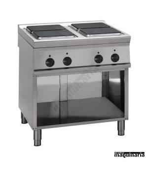 Cocina industrial electrica PRC8FE9 cuatro quemadores
