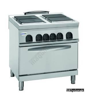 Cocina industrial electrica clpf8e9 con 4 quemadores y horno for Cocina industrial electrica