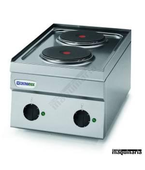 Cocina industrial electrica CLPC35E60 con 2 quemadores