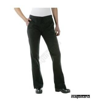Pantalón cocinero corte de mujer NIA431 color negro