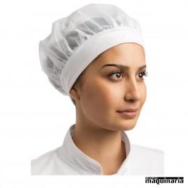 Gorro de cocina con redecilla NIB252