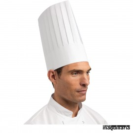 Gorro de cocina alto desechable NIA250