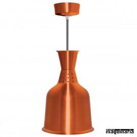 Pantallas lamparas infrarroja aluminio buffet color cobre