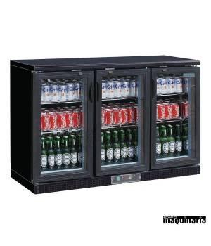 Nevera expositora bebidas NICB932 273 botellas tres puertas pivotantes