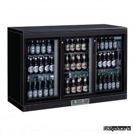 Nevera expositora bebidas NICC605 273 botellas tres puertas deslizantes