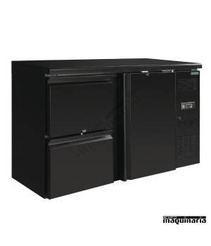 Botelleros frigorificos NIGL186 Puerta maciza y cajones, 349 litros