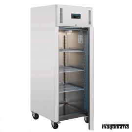 Congelador vertical industrial NIU633 una puerta Inox 650 litros