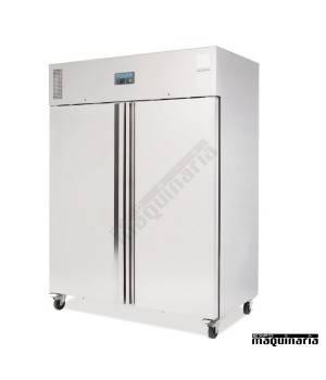 Congelador vertical industrial NIU635 Inox dos puertas 1300 litros