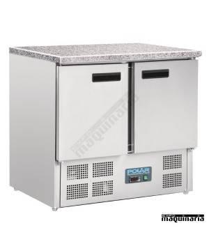 Mesas frias NICL108 INOX encimera de marmol 2 puertas