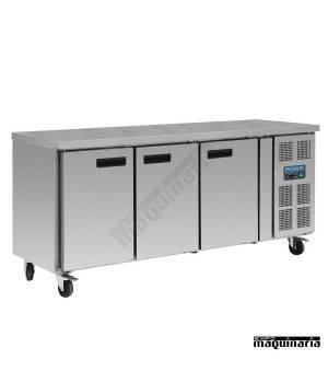 Mesa bajo mostrador congelador NIG600 con peto 3 puertas