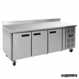 Mesa bajo mostrador congelador NIDL917 con peto 3 puertas
