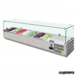 Vitrina para tapas refrigerada NIG609 7 cubetas GN 1/4
