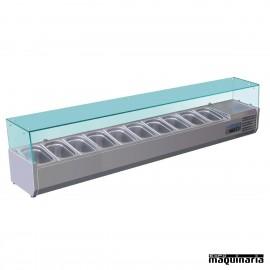 Vitrina para tapas refrigerada NIG611 10 cubetas GN 1/4