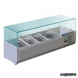 Vitrina para tapas refrigerada NIGD875 para GN 1/3 y 1/2