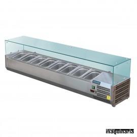Vitrina para tapas refrigerada NIGD877 8 cubetas GN 1/3