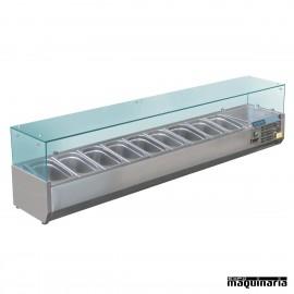Vitrina para tapas refrigerada NIGD878 para 9 cubetas GN 1/3