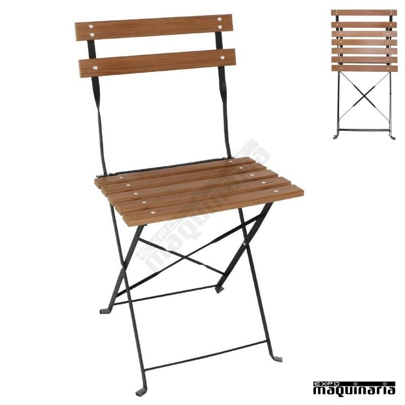 sillas de terraza plegables imitacion madera nigj766