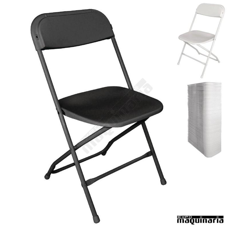 silla plegable apta para exterior nigd386 de polipropileno