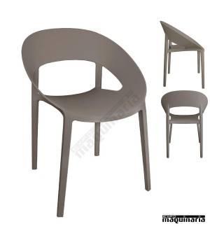 Silla apilable diseño moderno cafe NIGR339