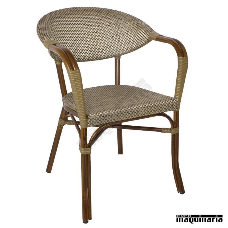 sillones de terraza imitaci n ratan nigj767 en textileno y