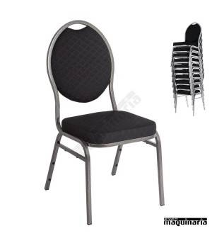 Sillas comedor tapizadas NICE142 sillas salon tapizadas ignifugo negro