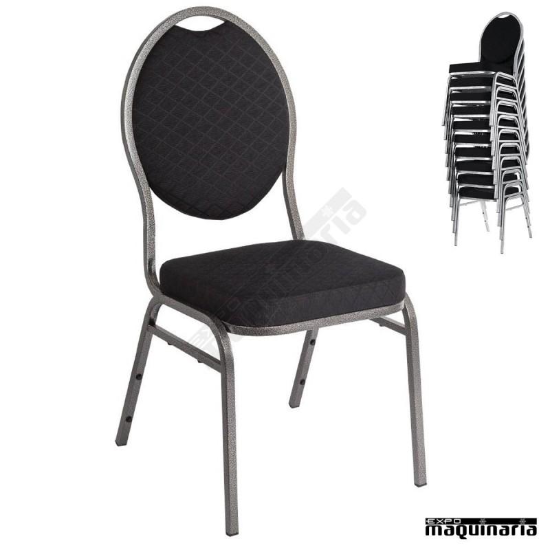 Sillas comedor tapizadas nice142 sillas salon tapizadas ignifugo negro - Sillas comedor tapizadas ...