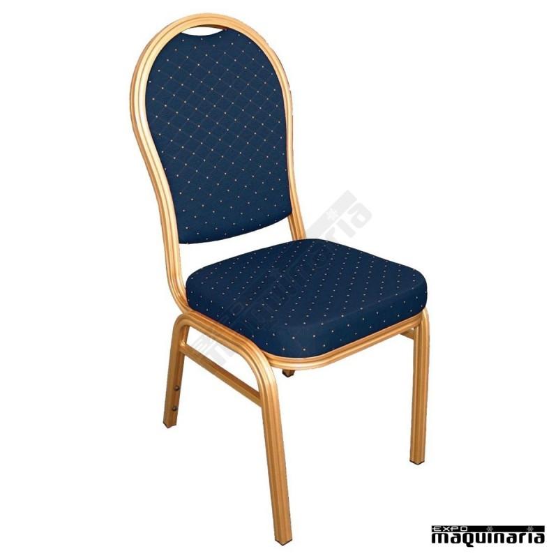 Sillas comedor tapizado moteado niu525 sillas de comedor for Sillas apilables comedor
